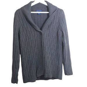 5/$25 Karen Scott Gray Open Cardigan Sweater M